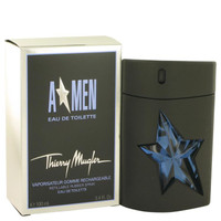 ANGEL by Thierry Mugler Eau De Toilette Spray Refillable (Rubber) 3.4 oz