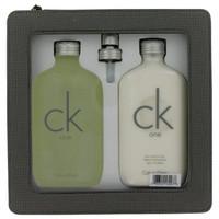CK ONE by Calvin Klein Gift Set -- 6.7 oz Eau De Toilette Spray + 6.7 oz Body Moisturizer