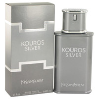 Kouros Silver by Yves Saint Laurent Eau De Toilette Spray 3.4 oz