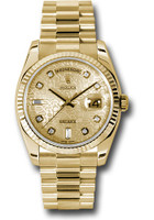 Rolex Watches: Day-Date President Yellow Gold - Fluted Bezel - President 118238 chjdp