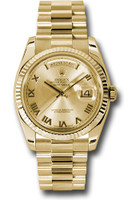 Rolex Watches: Day-Date President Yellow Gold - Fluted Bezel - President 118238 chrp
