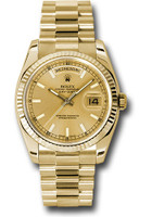 Rolex Watches: Day-Date President Yellow Gold - Fluted Bezel - President 118238 chsp
