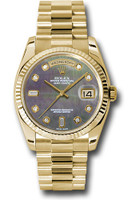 Rolex Watches: Day-Date President Yellow Gold - Fluted Bezel - President 118238 dkmdp