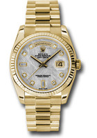 Rolex Watches: Day-Date President Yellow Gold - Fluted Bezel - President 118238 mtdp