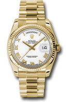 Rolex Watches: Day-Date President Yellow Gold - Fluted Bezel - President 118238 wrp