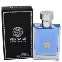 Gift Set -- 3.4 oz Eau De Toilette Spray + 3.4 Hair & Body Shampoo + Gold Versace Money Clip