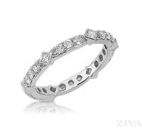 Ziva Eternity Ring with Princess Cut & Round Diamonds