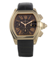 Cartier Roadster Chronograph Automatic Men's Watch, 18K Rose Gold, Brown Dial, W62042Y5 /