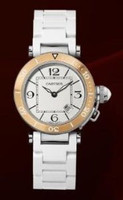 Cartier Pasha Seatimer Small (RG SS/ Silver /Rubber)