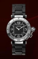 Cartier Pasha Seatimer Small (SS/Black /Rubber)