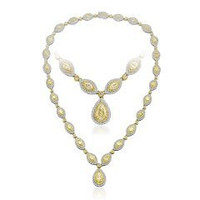 15.25 Ct Fancy Yellow & White Diamond Necklace (ydps 1.71ct, Ydmp 5.30ct, Ydrd 3.83ct, Rd 4.41ct)