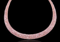 Almor Designs 39.58 Ct Pink Diamond Collar Necklace