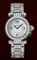 Cartier Pasha Small (WG-Diamonds/ Silver/WG-Diamonds)