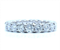 3.02 cttw Diamond Ring In 18k White Gold