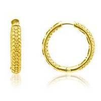 3.75 Cttw Fancy Yellow Diamond Hoop Earrings Inside Out (fy 3.75cttw;vs Clarity)