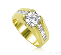 Ziva Two Carat Diamond Ring for Men