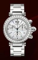 Cartier Pasha Seatimer Medium (WG Diamonds/MOP/WG)