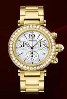 Cartier Pasha Seatimer Medium (YG Diamonds/MOP/YG)