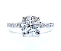 2.14 Cttw Round Brilliant Diamond Engagement Ring