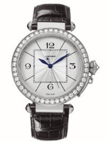 Cartier Pasha Extra Large (WG Diamonds/Silver/Leather)