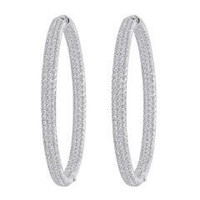 8.00 Ct Diamond Hoop Earrings Inside Out