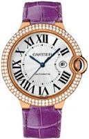 Cartier Ballon Bleu Large (RG Diamonds/Silver/ Leather)