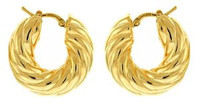 Herco 18k Yellow Gold Large Hoop Earrings