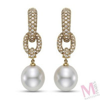 Mastoloni Signature Collection Pave Earrings SWE-3166