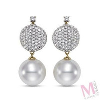Mastoloni Signature Collection Pave Earrings SWE-12007