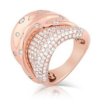 2.11ct Diamond Ring Set In 18k Rose Gold