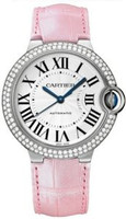 Cartier Ballon Bleu Medium (WG Diamonds/Silver/ Leather)