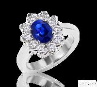 Ziva Blue Sapphire & Diamond Ring