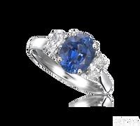 Ziva Sapphire 3-Stone Ring