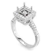 Princess Cut Diamond Engagement Ring Setting 1106