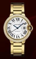 Cartier Ballon Bleu Medium (YG Diamonds/Silver/YG)