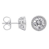 1.60 Ct Diamond Stud Earrings (rd 0.24cttw, Rd 1.36cttw)