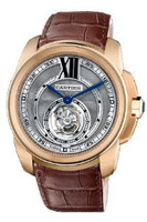 Cartier Calibre De Cartier Flying Tourbillon (RG/ Silver/