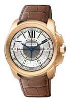 Cartier Calibre Central Chronograph (RG/Silver/ Leather)