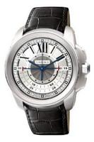 Cartier Calibre Central Chronograph (WG/Silver/ Leather)