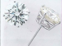 8.39 CT Diamond Stud Earrings