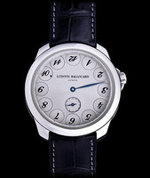 Ludovic Ballouard Upside Down Platinum Grey Dial Watch MLB UPD PGD
