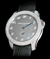 Ludovic Ballouard Upside Down Platinum Silver Dial Diamond Watch MLB UPD PSDD