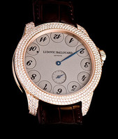 Ludovic Ballouard Upside Down 18k RG Grey Dial Diamond Watch MLB UPD RGGDD