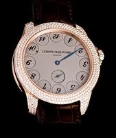 Ludovic Ballouard Upside Down 18k RG Grey Dial Diamond Watch MLB UPD RGGDD