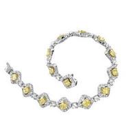 Mitali 8.66 Ct Tw White & Canary Diamond Bracelet