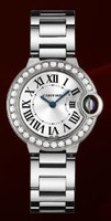 Cartier Ballon Bleu Small (Diamonds/Silver/WG)