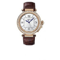 Cartier Pasha Extra Large (RG Diamonds/Silver/Leather)
