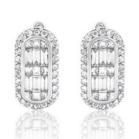 1.13ct Diamond Earrings In 14k White Gold