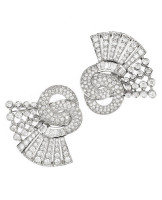 Gayubo 18K WG Diamond 2-Piece Brooch 7152