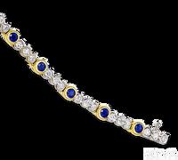 Ziva Bezel Set Sapphire Bracelet